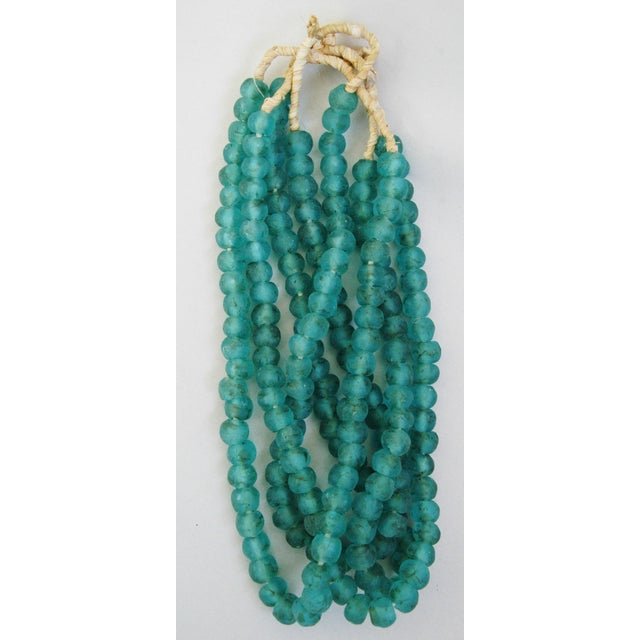 Turquoise Glass Bead Strands - Set of 4 - Image 4 of 5