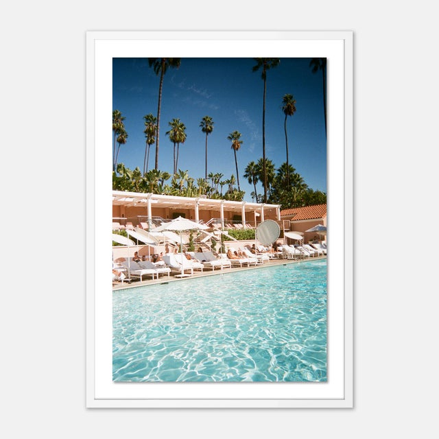 Natalie Obradovich Beverly Hills by Natalie Obradovich in White Framed Paper, Large Art Print For Sale - Image 4 of 4