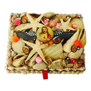 Vintage Seashell Jesus Box For Sale