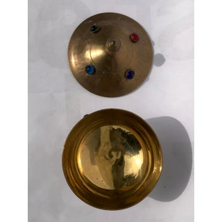 Brass and Glass Cabochon Lidded Genie Box Preview