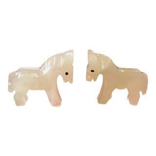 Onyx Horse -- A Pair
