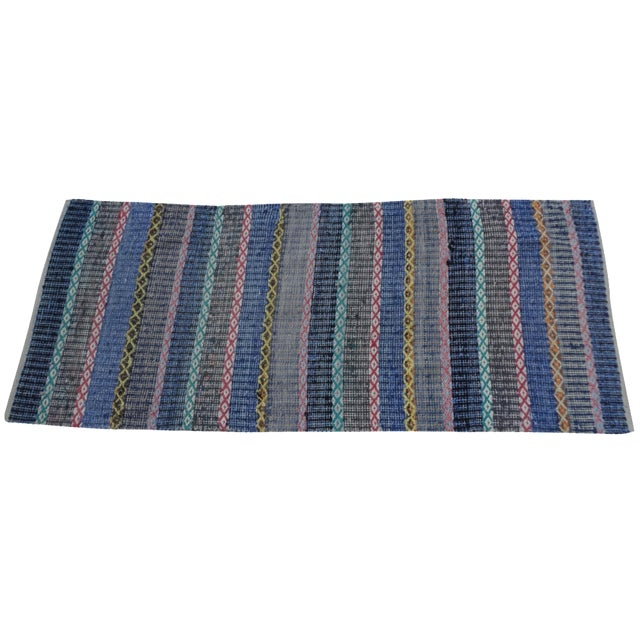 Hand-Woven Swedish Rag Rug For Sale