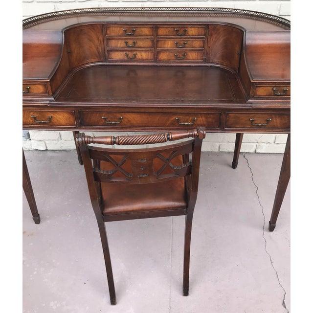 Vintage Kittinger Harpsichord Desk With Chair For Sale - Image 9 of 11