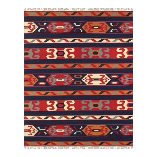 Anatolian Hand-Woven Cotton Rug- 4' X 6' For Sale