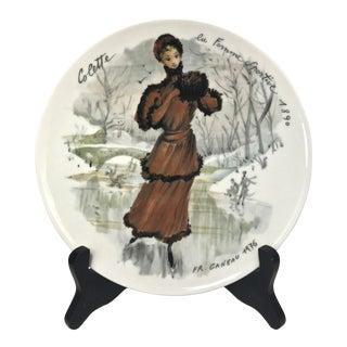 """Limoges Les Femmes Du Siecle, """"Françoise"""" Decorative Plate For Sale"""