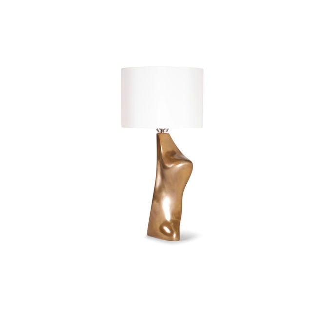 Paint Amorph Helen Table Lamp, Gold Finish For Sale - Image 7 of 9