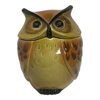 Vintage Metlox Poppytrail Owl Canister Cookie Jar