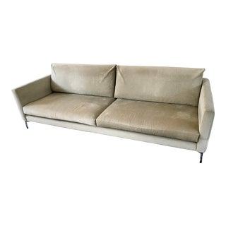 Knoll Divina Velvet Sofa by Piero Lossini For Sale
