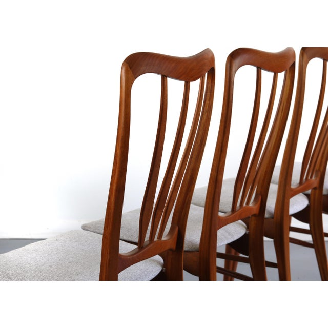 1960s Vintage Koefoeds Hornslet 'Ingrid' Chairs- Set of 4 For Sale In Orlando - Image 6 of 8