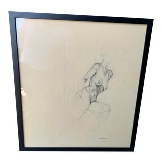 Contemporary Female Nude Drawing For Sale