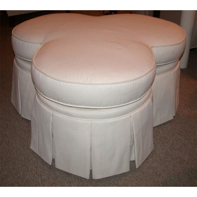 Ivory Clover Shaped Ottoman or Coffee Table - Image 5 of 8