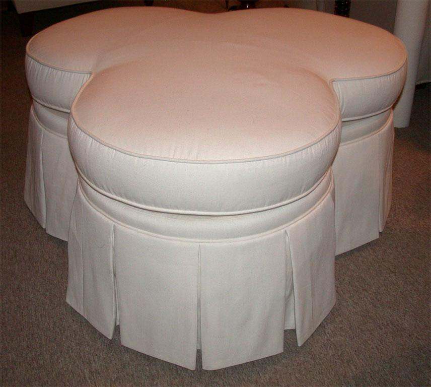 Ivory Clover Shaped Ottoman Or Coffee Table   Image 5 Of 8