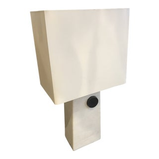 Arteriors White Rectangular Cambria Lamp With Shade For Sale