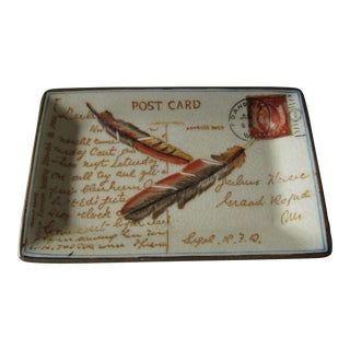 Vintage Postcard Catchall For Sale