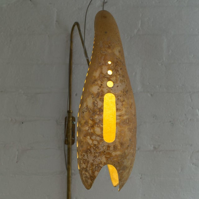 Contemporary Curved Gourd Sconce, Mexico City, 2017 For Sale - Image 3 of 4