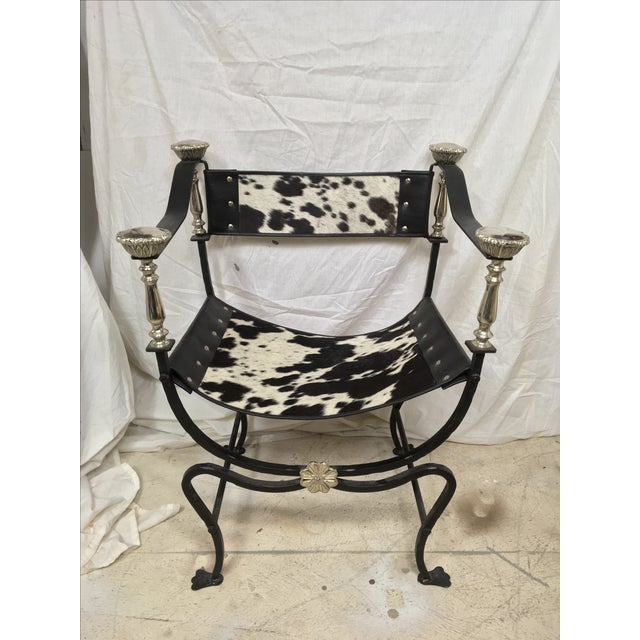 Italian Campaign Style Chair - Image 6 of 6