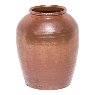 Chinese Glazed Ceramic Urn For Sale