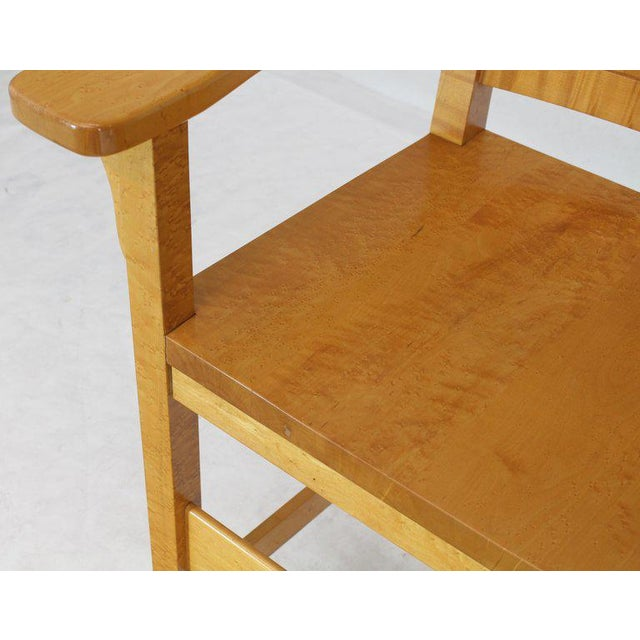 Modern Solid Brid's-Eye Maple High Pool Chairs Bar Stools- A Pair For Sale - Image 11 of 13