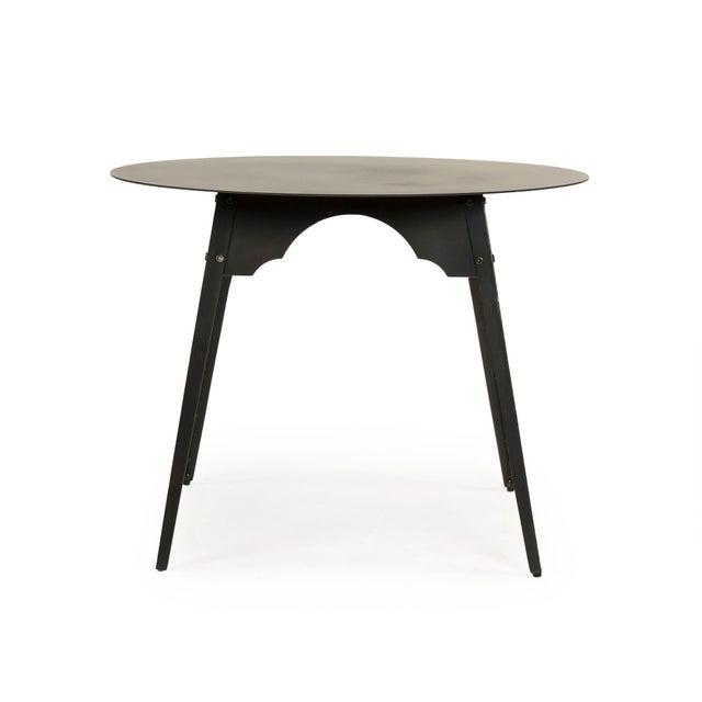 Olsen Metal Table in Black For Sale - Image 4 of 4