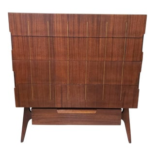 Mahogany Mid-Century Modern Tall Chest For Sale