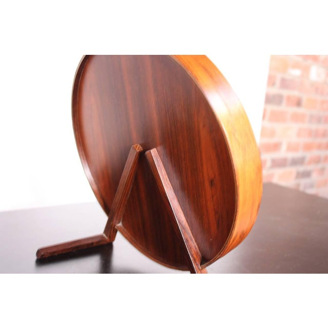 Swedish Rosewood Table Mirror by Uno and Östen Kristiansson for Luxus - Image 6 of 9