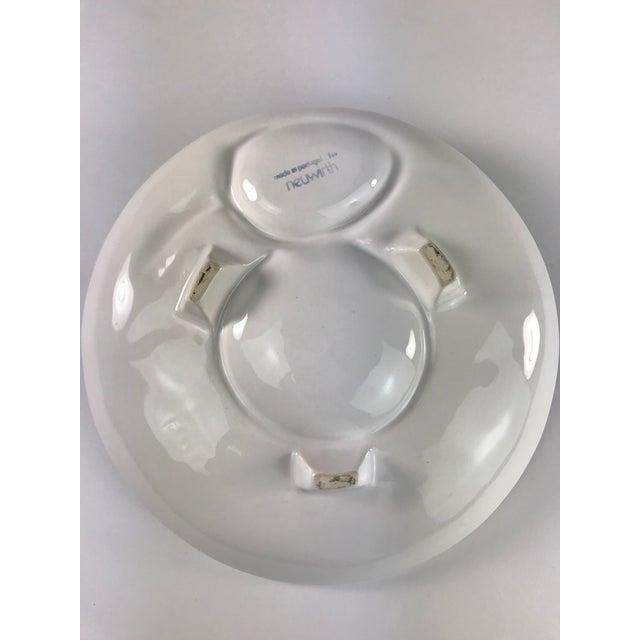 Majolica Vintage Portuguese Majolica Neuwirth Artichoke Footed Plate For Sale - Image 4 of 8