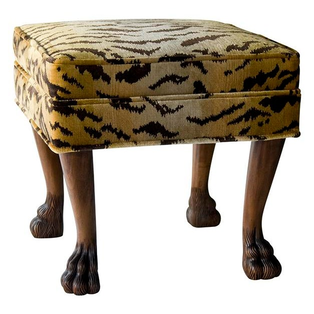 Not Yet Made - Made To Order Scalamandre for vanCollier Rory Ottoman For Sale - Image 5 of 5