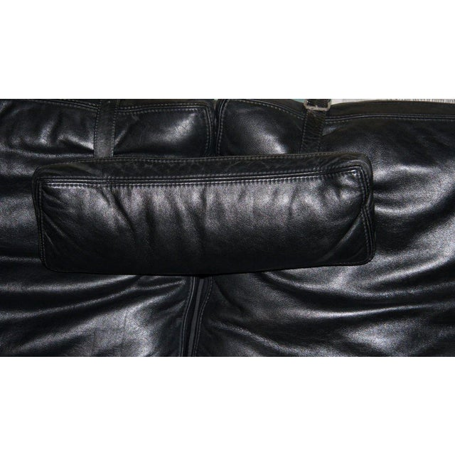 """Vittorio Mazzucconi """"Positiv"""" Plexi and Leather Sofa For Sale In Los Angeles - Image 6 of 11"""