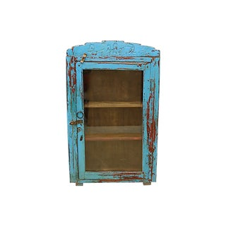French Rustic Bathroom / Curio Cabinet For Sale