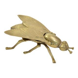 Vintage Mid-Century Brass Fly Stash Box