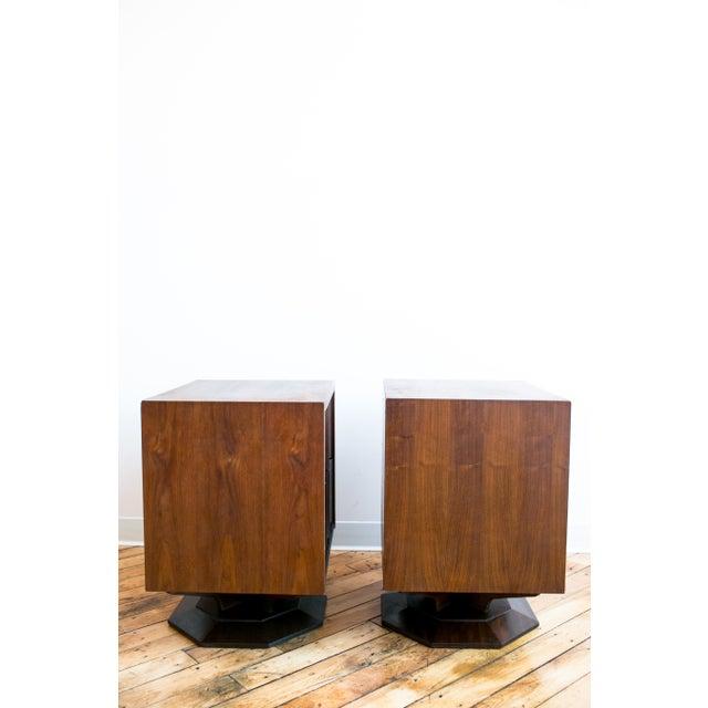 Mid Century Brutalist Paul Evans Styled Nightstands - a Pair - Image 8 of 9