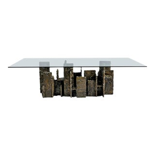 Exceptional Sculpted Bronze Dining Table by Paul Evans For Sale