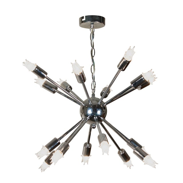 1960s Chrome Sputnik Chandelier - Image 1 of 5