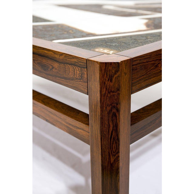 Danish Rosewood Abstract Tile Coffee Table - Image 8 of 10