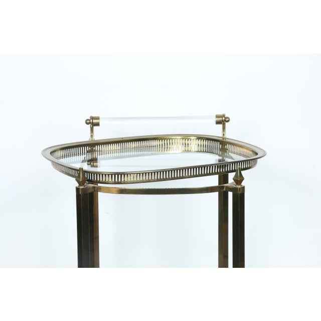 Mid-Century Gold-Tone Bar Cart - Image 10 of 11