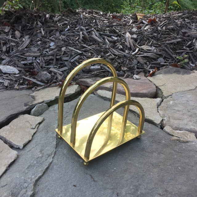 Vintage Brass Art Deco Mail Holder - Image 3 of 7