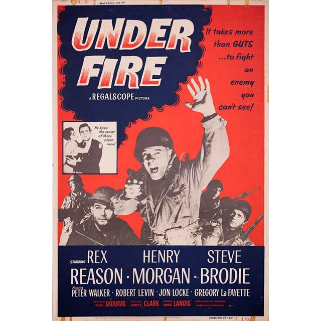 Under Fire Giant 1957 Drive-In Movie Poster - Image 1 of 2