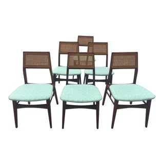 Mid Century Modern Vintage Foster McDavid Walnut Chairs- Set of 6 For Sale