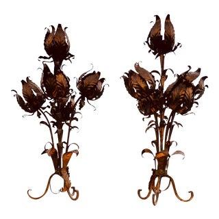 Antique Florentine Sculptural Lamps - a Pair For Sale