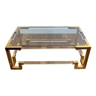 Hollywood Regency Worlds Away Newman Brass Coffee Table For Sale