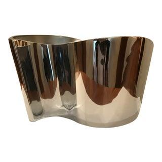 Nambe Metal Wave Vase