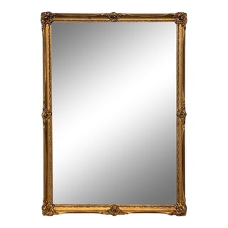 19th Century Rectangular French Napoleon III Giltwood Mirror For Sale