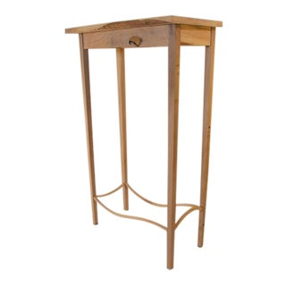 "Folk Art ""The Criquet Table"" Walnut Side Table For Sale"