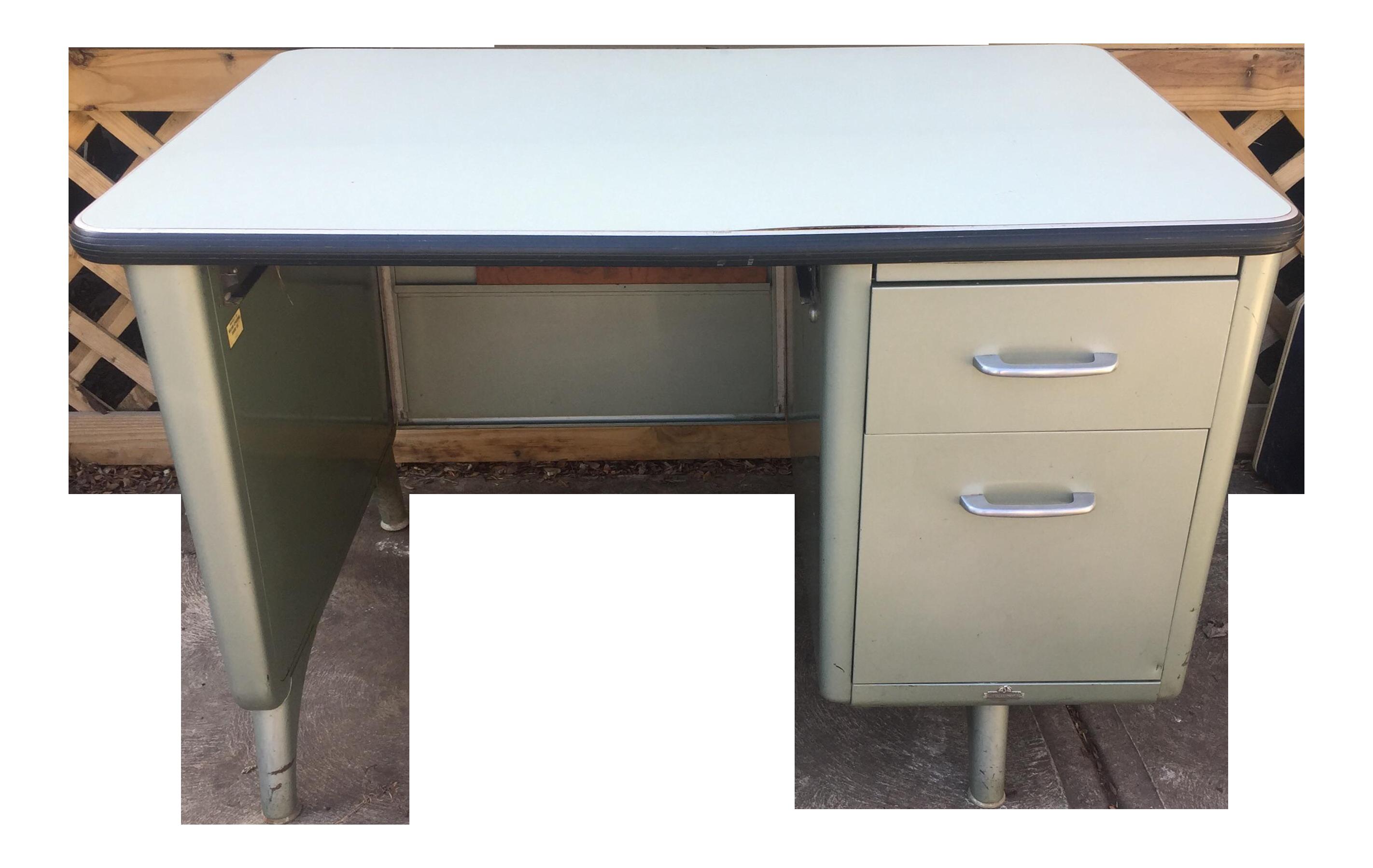 Vintage All Steel U201cTankeru201d Desk For Sale