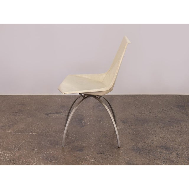 1960s Paul McCobb White Origami Chair on Spider Base For Sale - Image 5 of 9