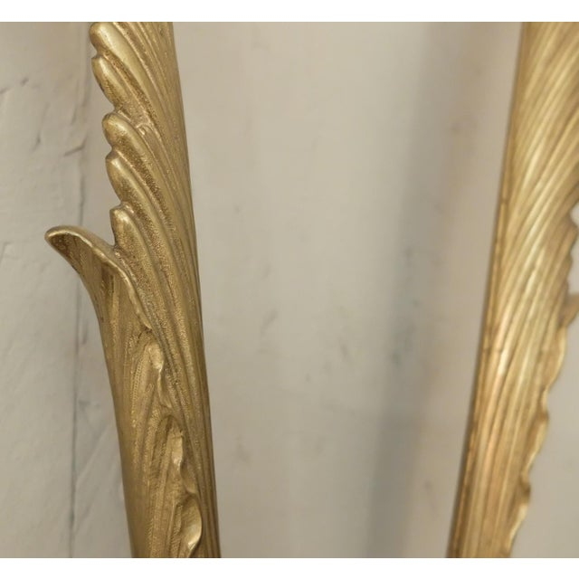 Pair of Brass Wall Sconces For Sale - Image 4 of 7