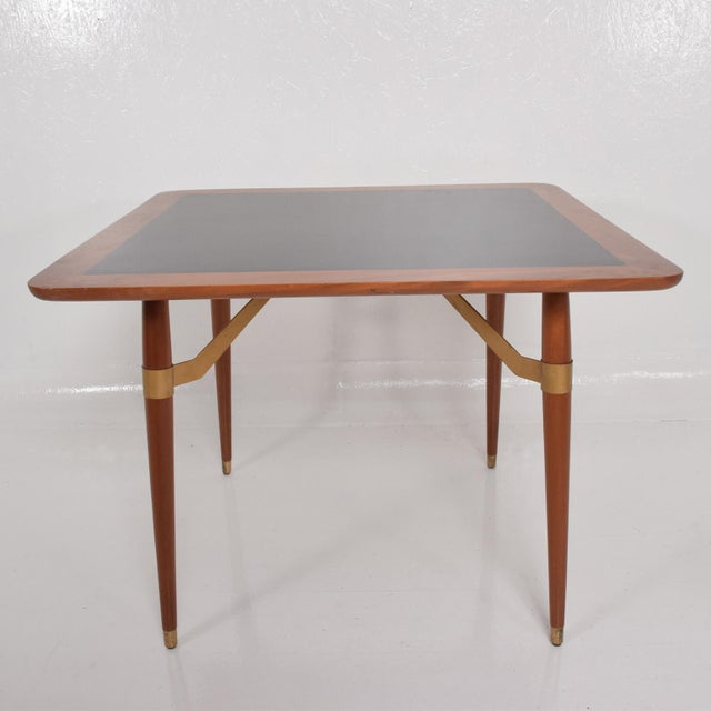 Mid-Century Modern Mexican Modernist Game or Dining Table in Mahogany Wood Attr Eugenio Escudero For Sale - Image 3 of 10