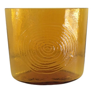 1963 Vintage Blenko Glass Jonquil Vase For Sale