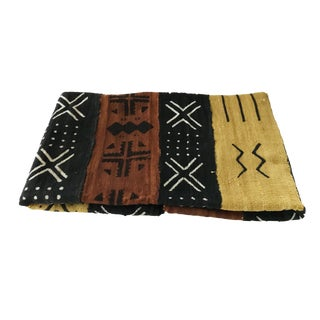 "African Bogolan Mud Cloth Textile 60 "" by 40 "" For Sale"