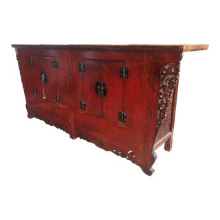 19th Century Chinese Lacquered Cabinet For Sale